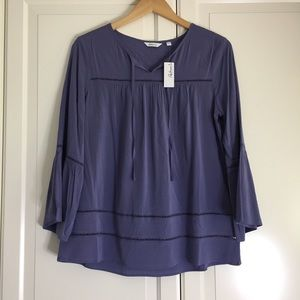 Reitmans Purple Blouse with Bell Sleeves